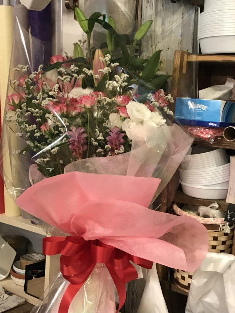 サプライズな花束